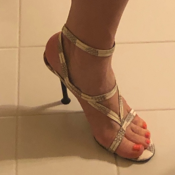 Sergio Rossi Shoes - New ! Stunning Snakeskin Sergio Rossi, size 8.5